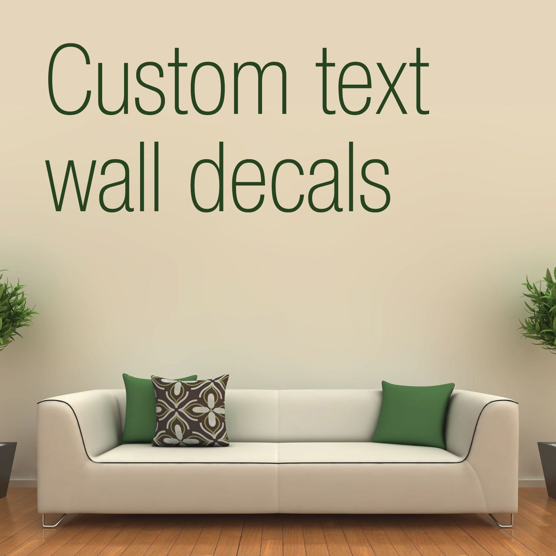 Custom text wall decals stickers onmyhome new york city sticker tenstickers