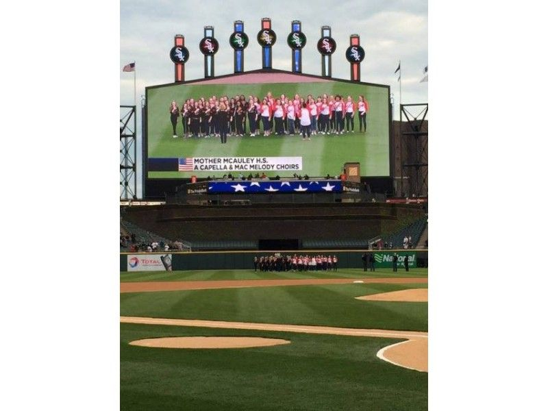 McAuley Choirs Sing Amazing Rendition of National Anthem at Sox Game: Video | Beverly - Mt. Greenwood Patch.com