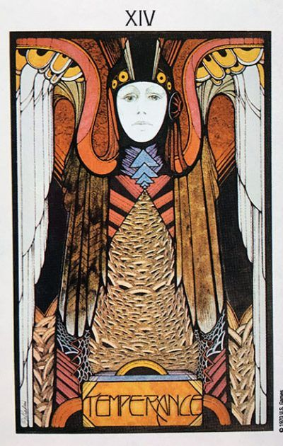 Image result for aquarian tarot temperance