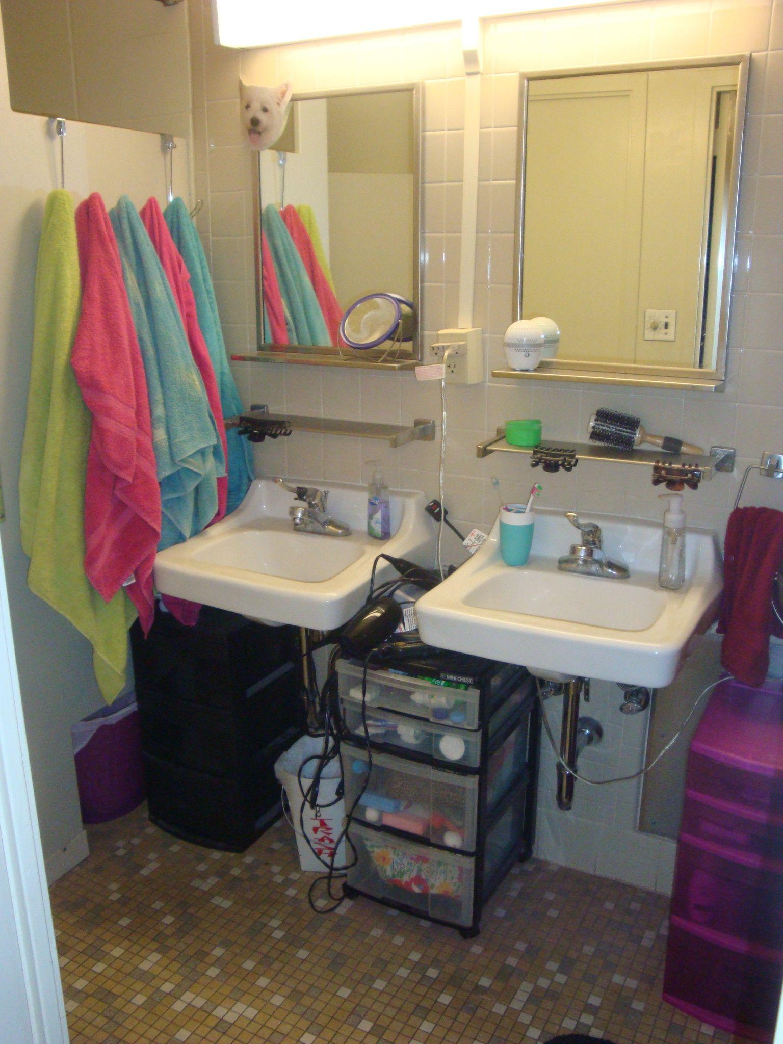 University Of Oklahoma Dorm Bathroom Organization College