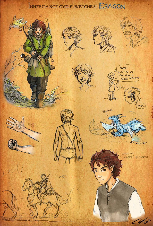 Eragon Book Characters Eragon sketches by *Ti...