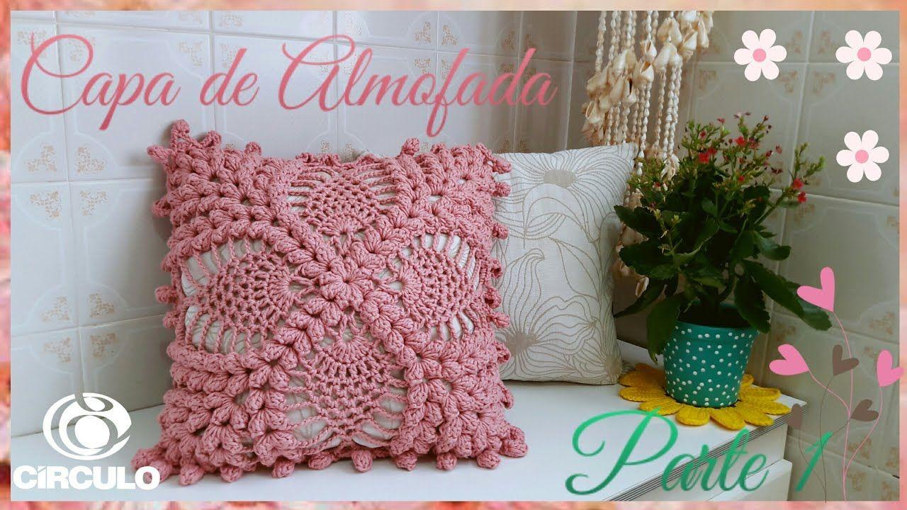 Capa De Almofada Em Croche 1 2 Por Vanessa Marcondes Com
