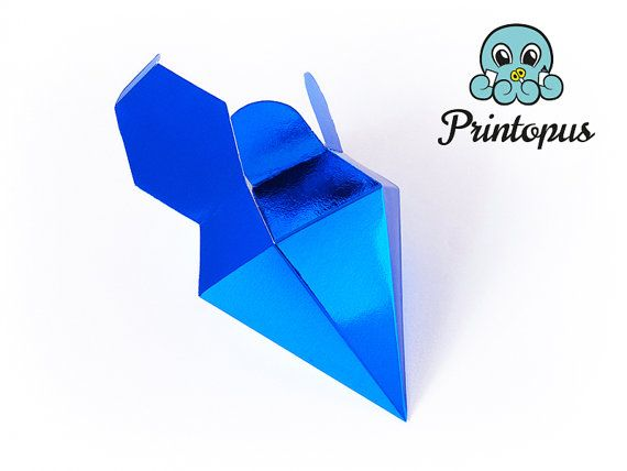 Diamond Shape Printable Gift Box Template PDF By Printopus