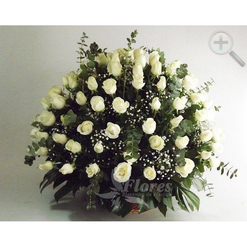 Floreria - Flores Elegantes de Mexico arreglo rosas blancas