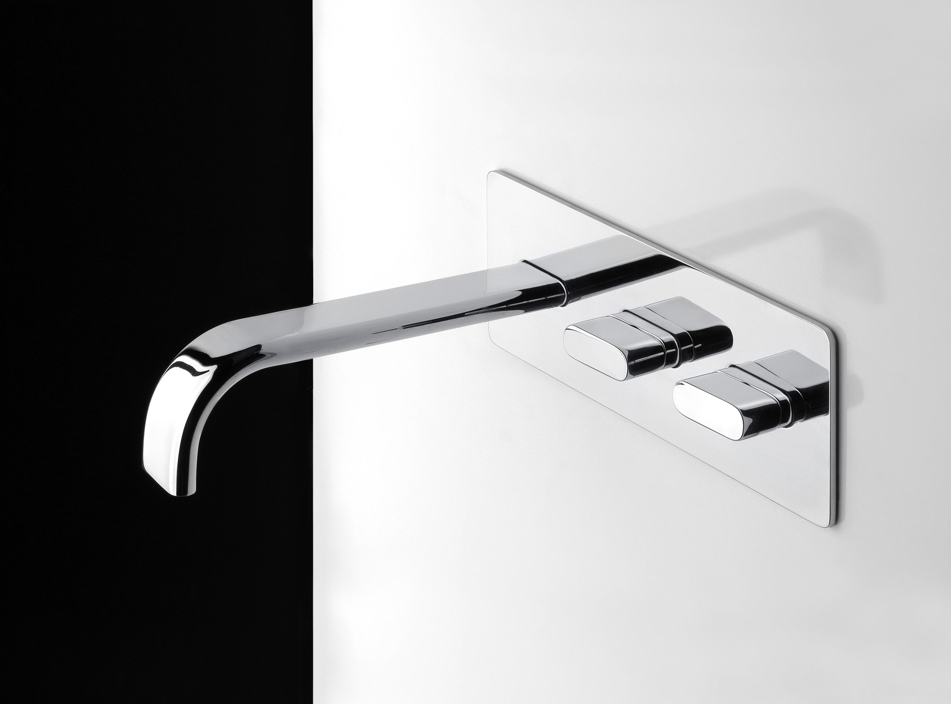 Edge Wall Mounted 2 Hole Bathroom Basin Tap Set from Crosswater ...