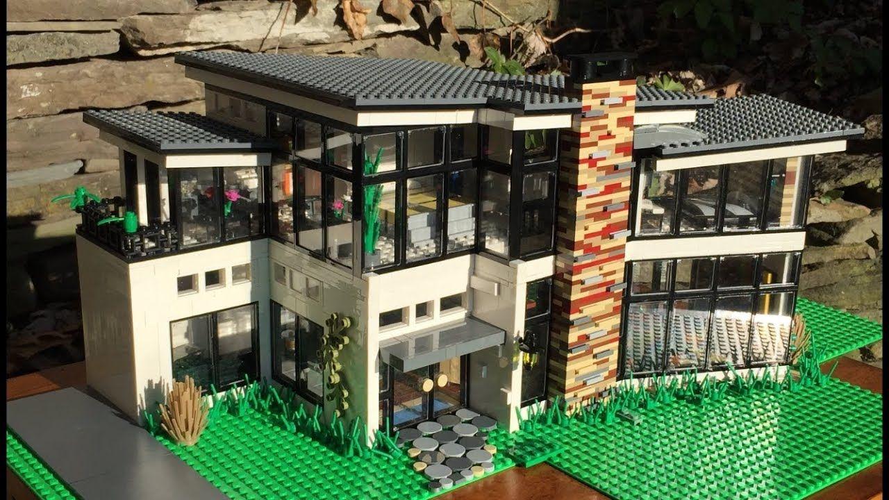 Ultra Modern Lego Mansion Youtube Lego Mansion Lego House Lego Architecture