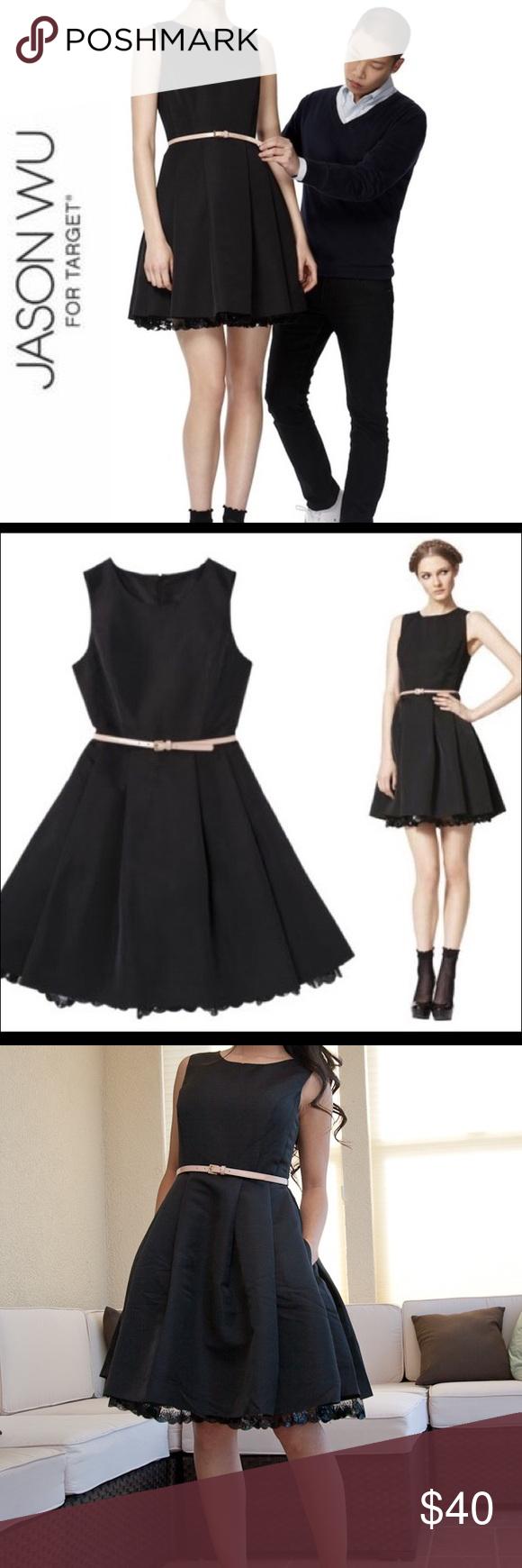 Jason Wu For Target Fit And Flare Black Dress Jason Wu Limited Edition For Target Dress Lined With Bottom Lace Hem B Fit And Flare Jason Wu Dress Black Dress [ 1740 x 580 Pixel ]