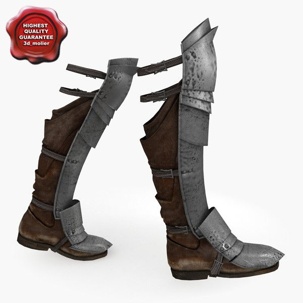 Medieval Retro Men And Women Warrior Role Playing Soldiers Knight Armor Shoes Mens And Womens Armor Boots Cos Foot Cover Costumes & Accessories