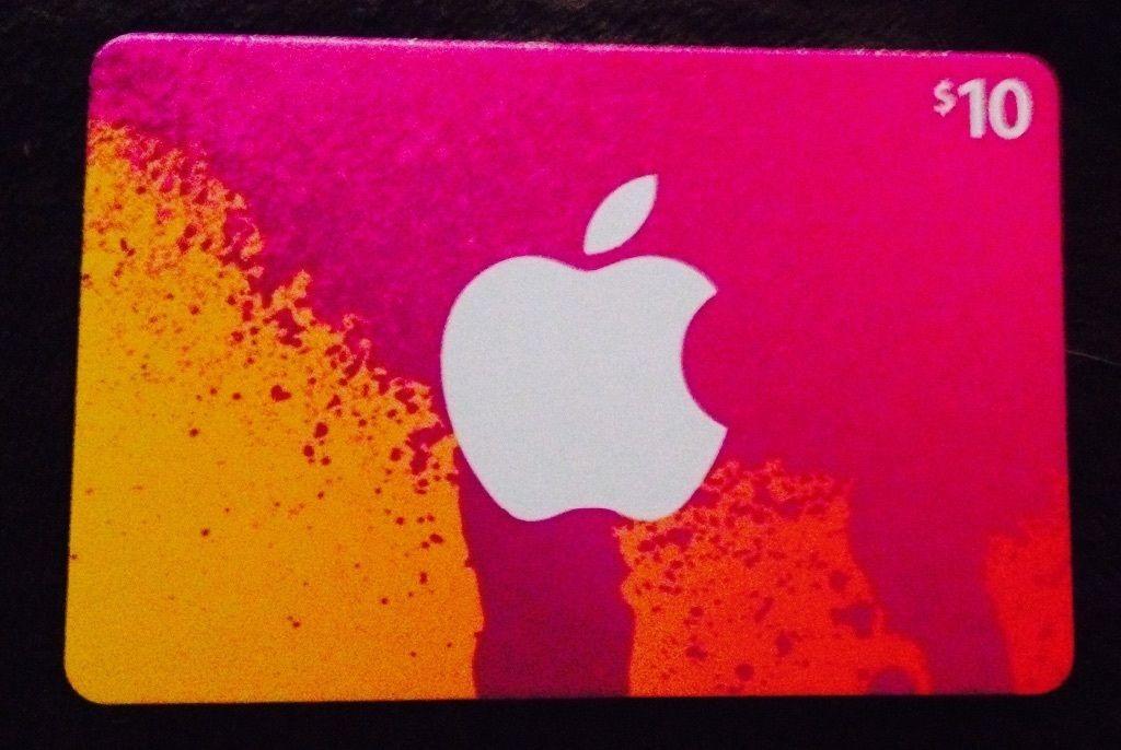 Apple itunes 10 gift card