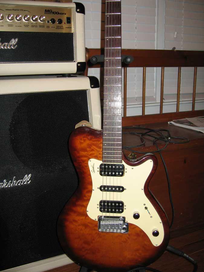 My Godin Model Sdxt A Cross Between A Les Paul And A Strat 2