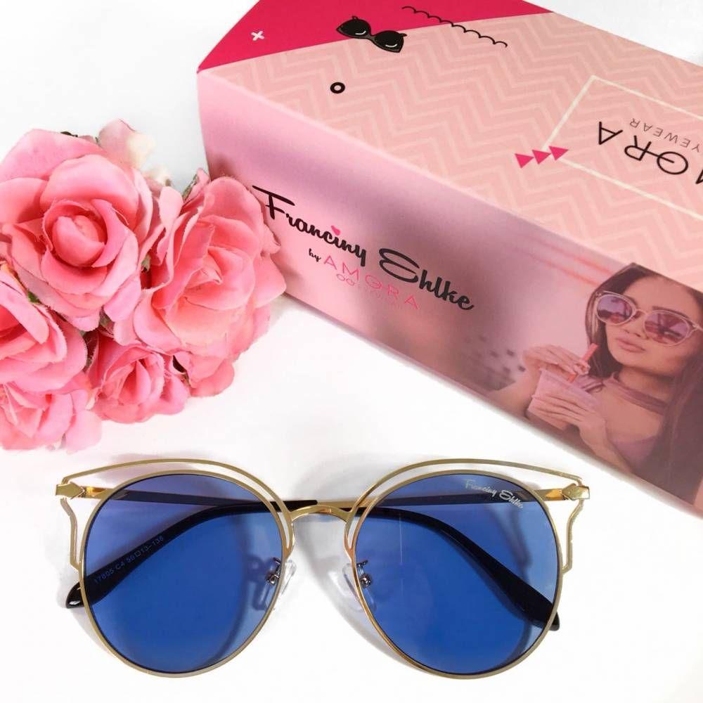 Óculos Franciny Ehlke   Califórnia Azul Transparente   Acessórios ... d8260e6347