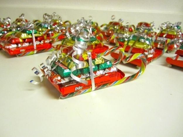 Christmas candy sleighs make cheap and easy gifts for kids and ...