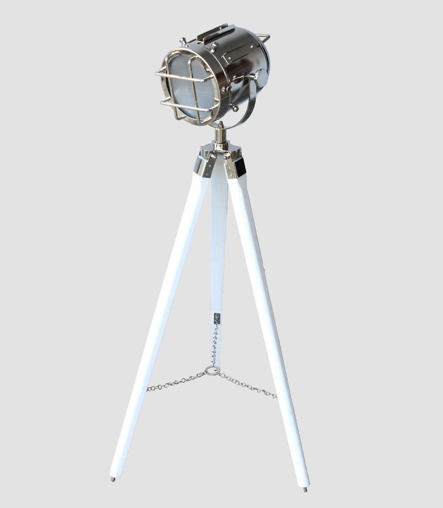 Marine vintage tripod low floor lamp searchlight electric plug led marine vintage tripod low floor lamp searchlight electric plug led nautical lamp larparmory mozeypictures Image collections
