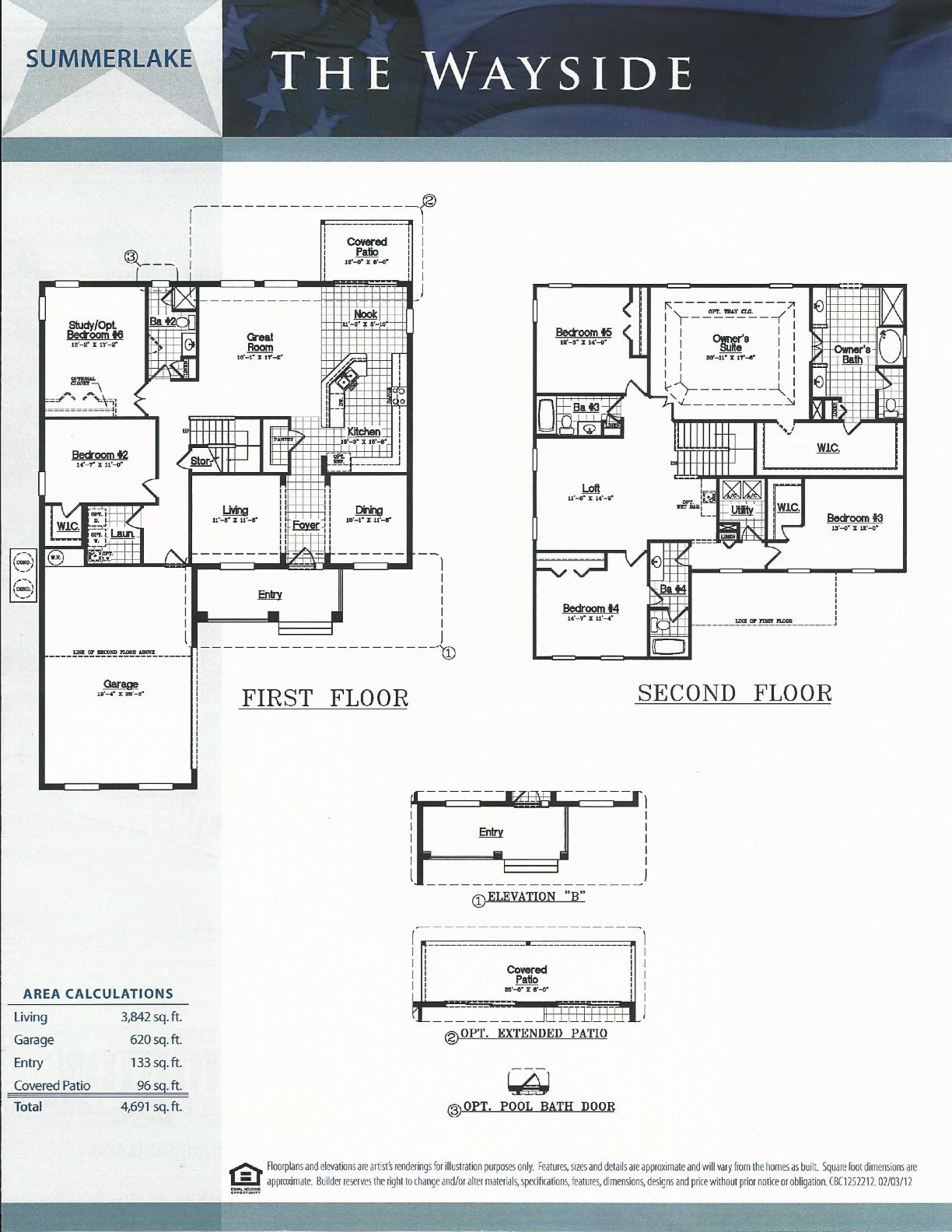 Summerlake dr horton homes wayside floor plan in winter for Summerlake house plan