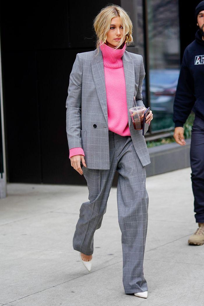 Hailey Baldwin Style: Karierter Blazer #makeclothes