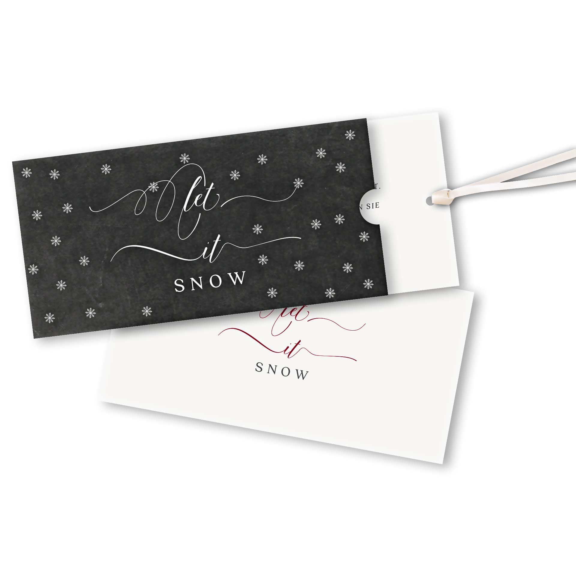 Einlegeblätter Für Weihnachtskarten.Weihnachtskarten Schuberkarte Mit Einlegeblatt Und Satinband