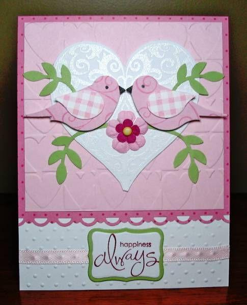 Anniversary Love Birds Anniversary Cards Handmade Valentine Cards Handmade Wedding Cards Handmade