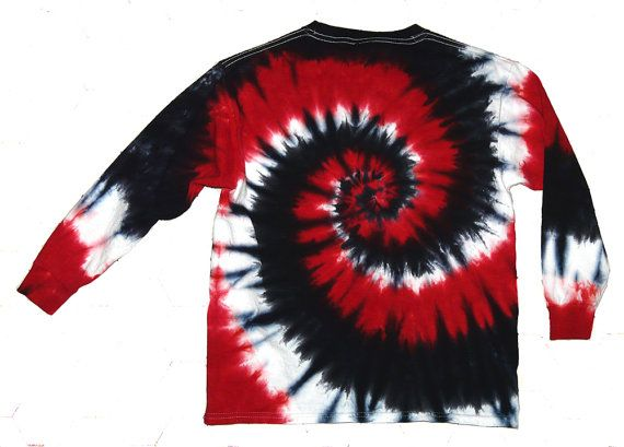 552f6d85151e3a Red Black and White Tie Dye Shirt Valentine's Day | Tie Dye crafting ...