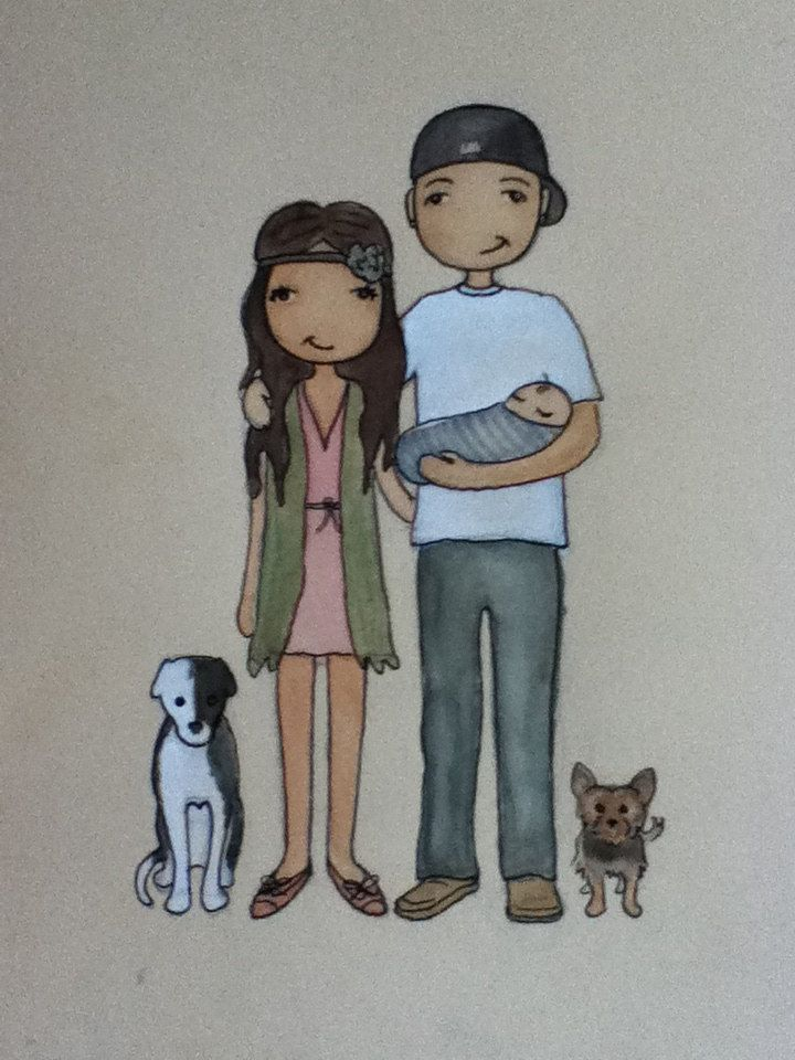 Personalised Portrait for any Occasion. $45.00, via Etsy.