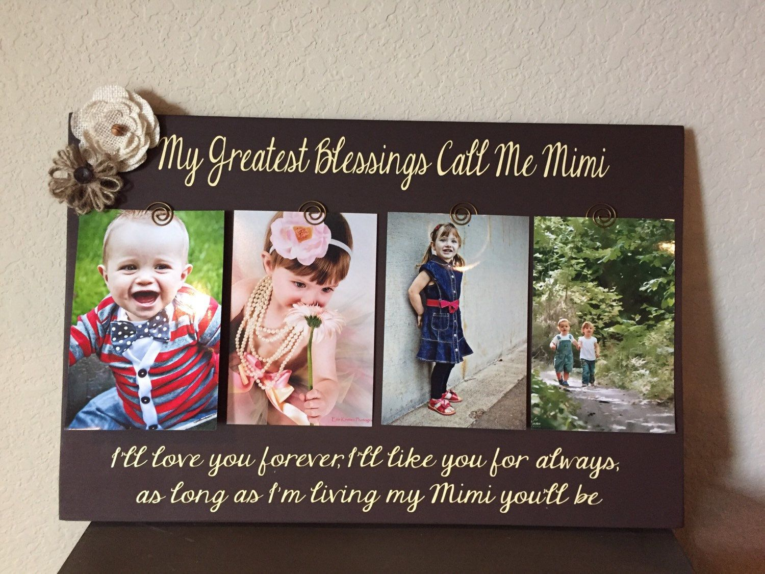 My Greatest Blessings Call Me Grandma Personalized Frame Grammie