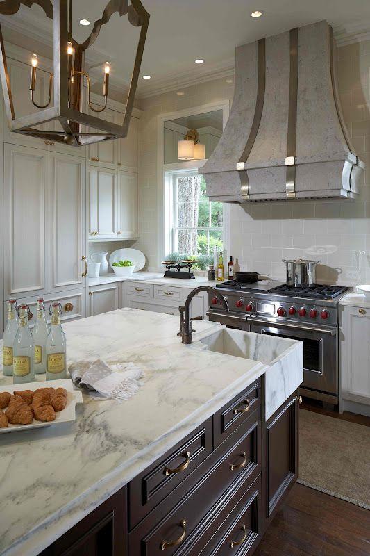 Best Kitchen Gray Island White Cabinets Killer Vent Hood 400 x 300