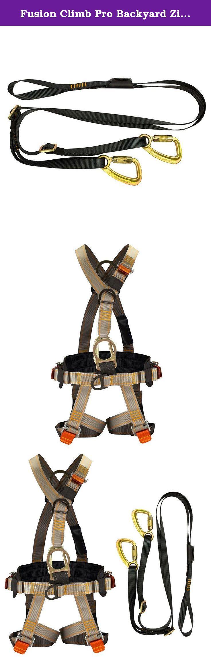fusion climb pro backyard zip fk a hl 07 line kit harness lanyard