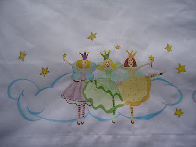 Sabanas pintadas a mano sabanas para bebes pintadas a - Dibujos para sabanitas de bebe ...