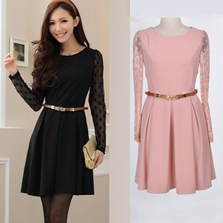 Collection Long Sleeve Casual Dresses Pictures - Reikian