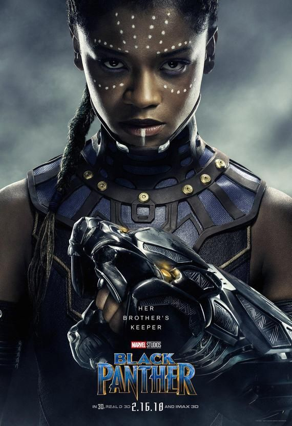 Black Panther Chadwick Shuri character poster Marvel comic movie quality print
