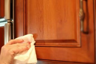 How to Remove Years of Greasy Build-Up from Kitchen Cabinets ...
