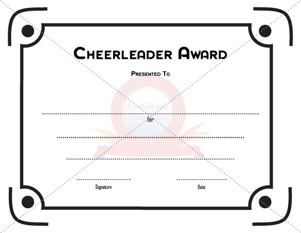 picture about Cheerleading Templates Printable identify Acquire versus countless numbers of totally free Printable certification templates