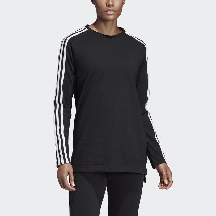 adidas Must Haves 3 Stripes Long Tee in 2019 | Products