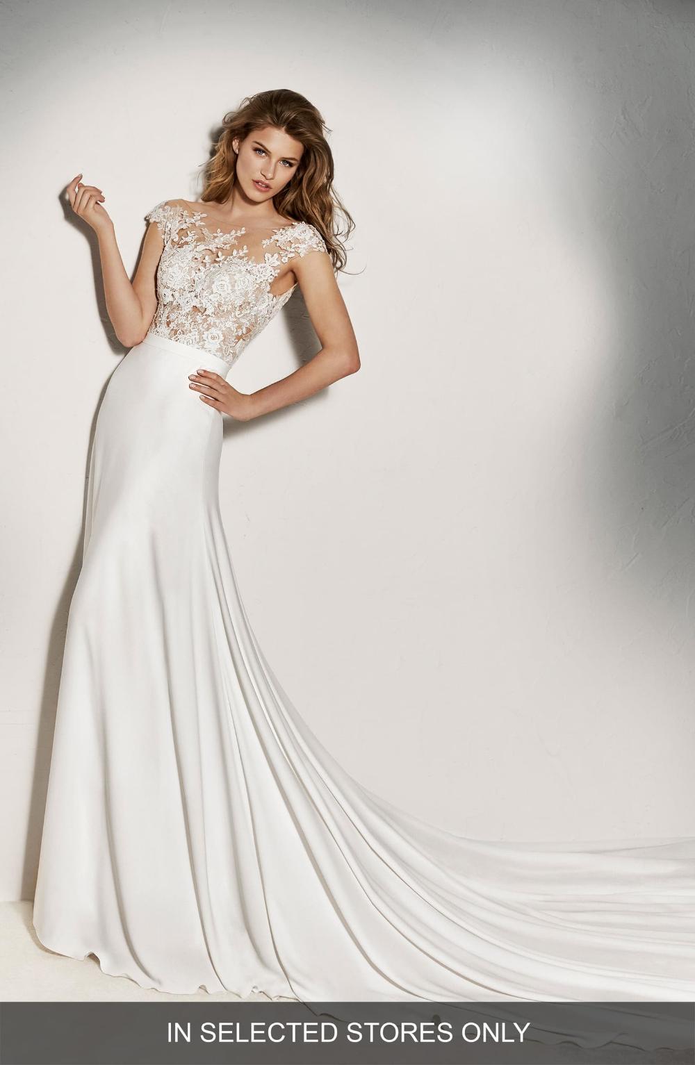 Pronovias Guadiana Crepe Skirt Nordstrom Nordstrom Wedding Dresses Nordstrom Bridal Best Wedding Dresses