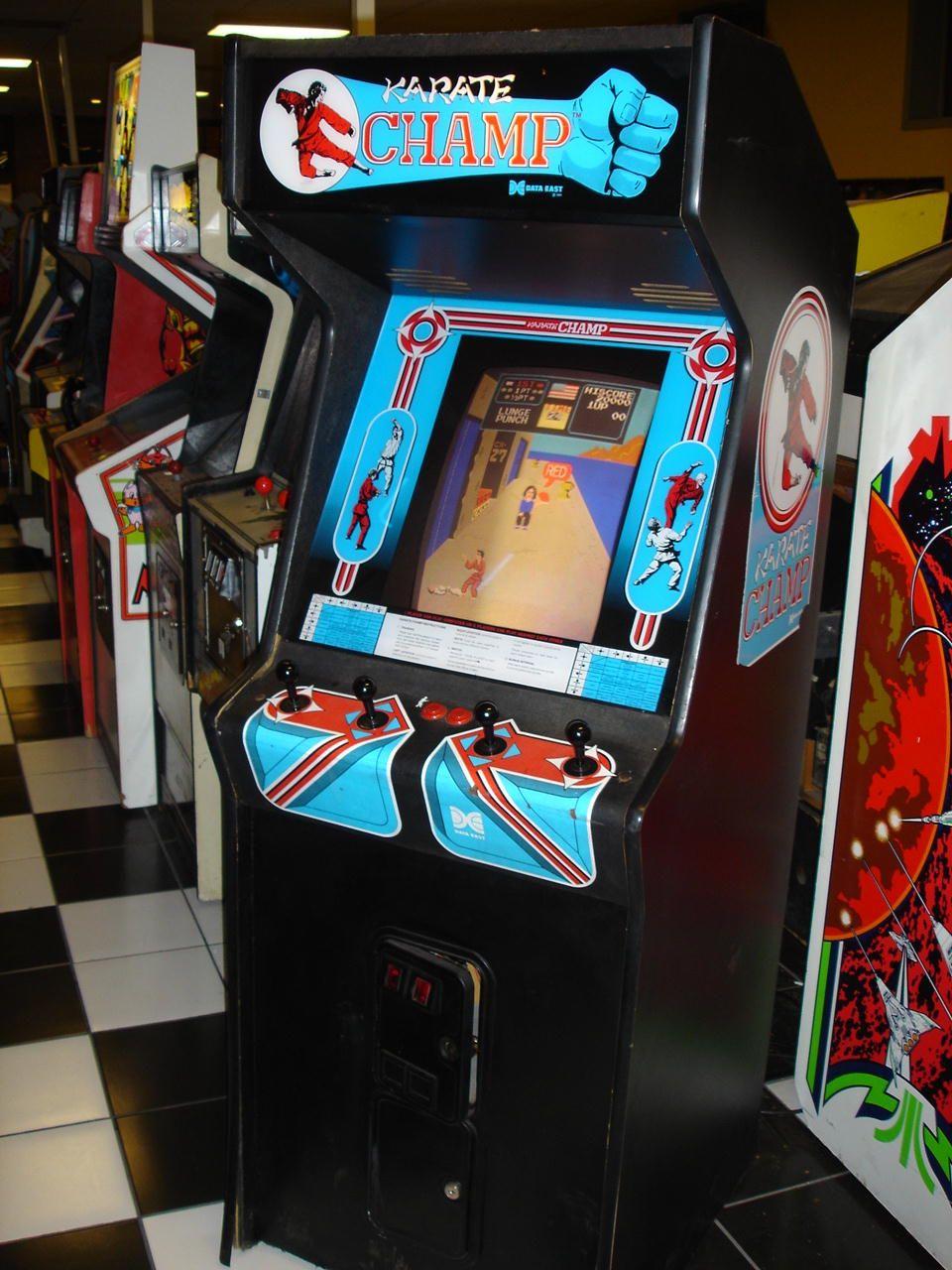 karate champ arcade cabinet
