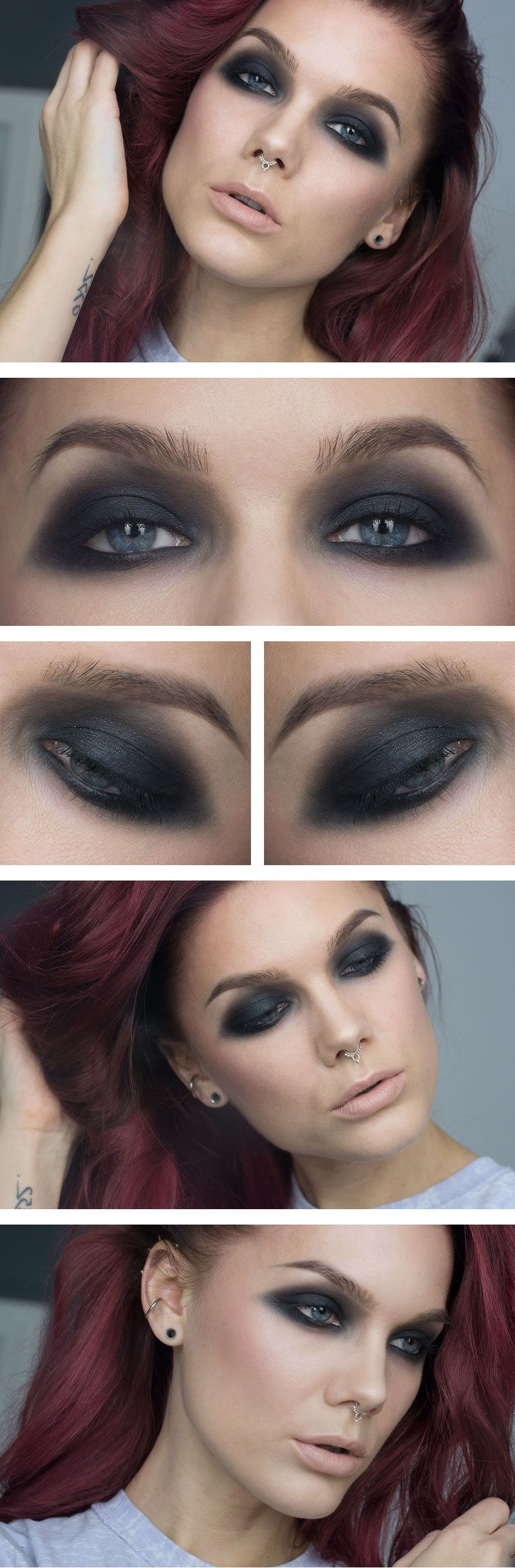 Downwards smokey ♥ Linda Hallberg - incredible makeup artist. Very inspiring -- from her daily makeup blog. | Inspiration for upcoming projects by Adagio Images at www.adagio-images.com/modeling or www.facebook.com/adagioimages | #makeup #makeupinspiration ♥