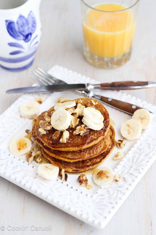 Whole Wheat Oat Gingerbread Pumpkin Pancake Recipe