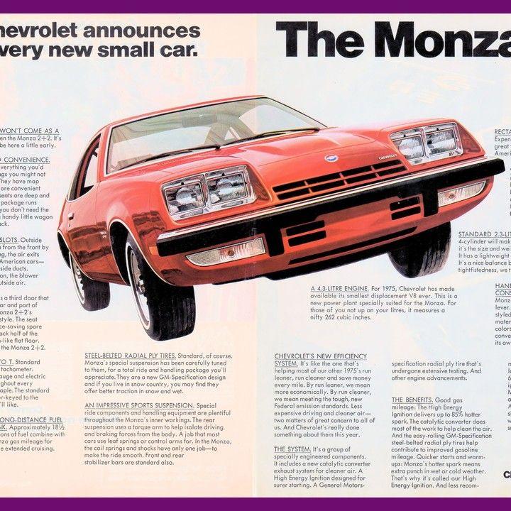 1975 Chevrolet Monza 4 3 Liter V8 Hatch Back Vintage Ad Chevrolet Monza Chevrolet Vintage Ads