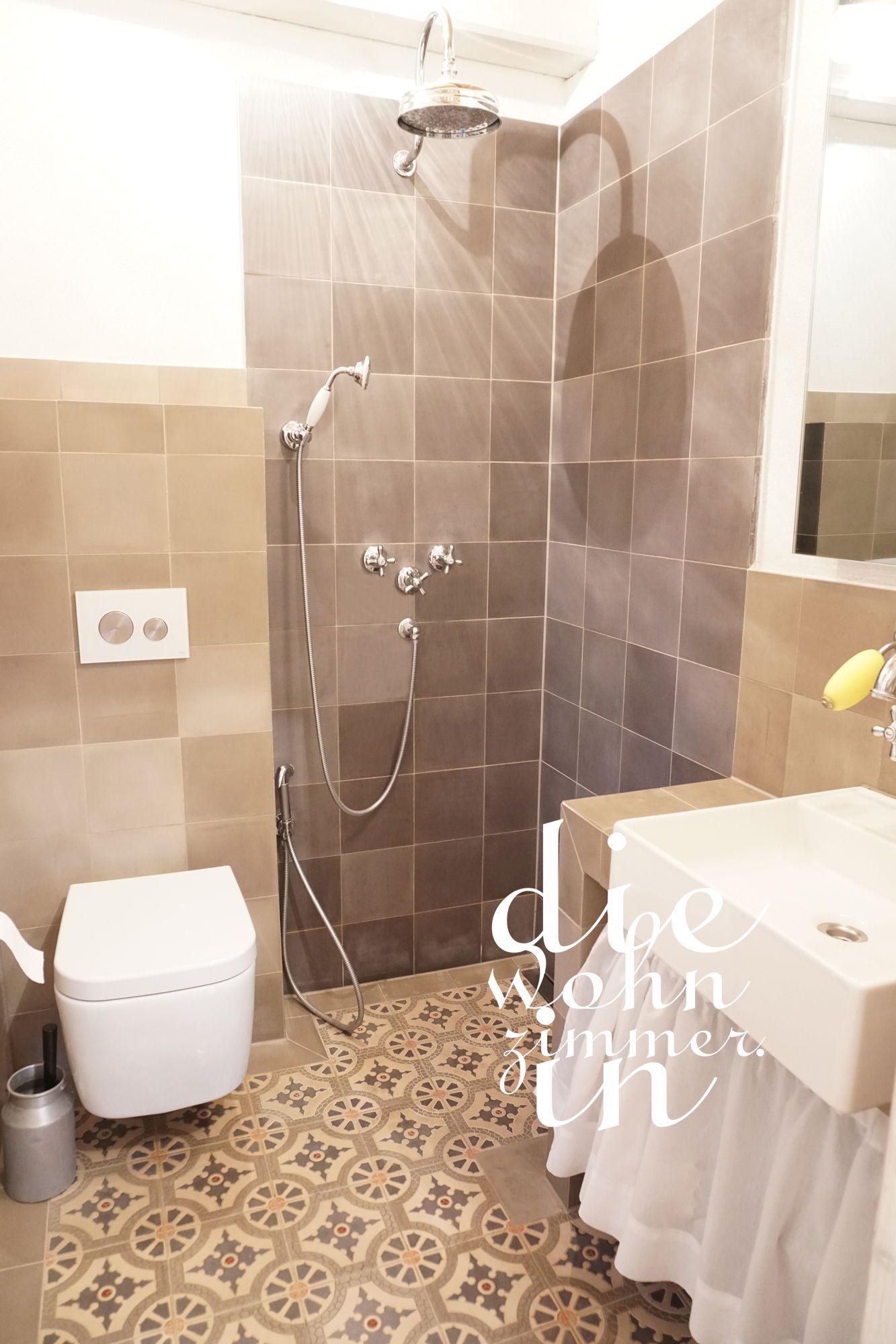 Dusche mit zementfliesen Armaturen von manufactum