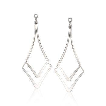Double Drop Earring Jackets in Sterling Silver