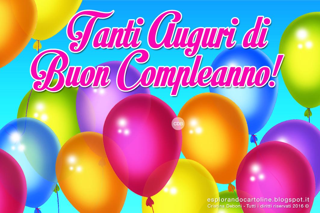 Connu Buon Compleanno Tanti Auguri | Fourcolorcreative | buon Compleanno  ZS43