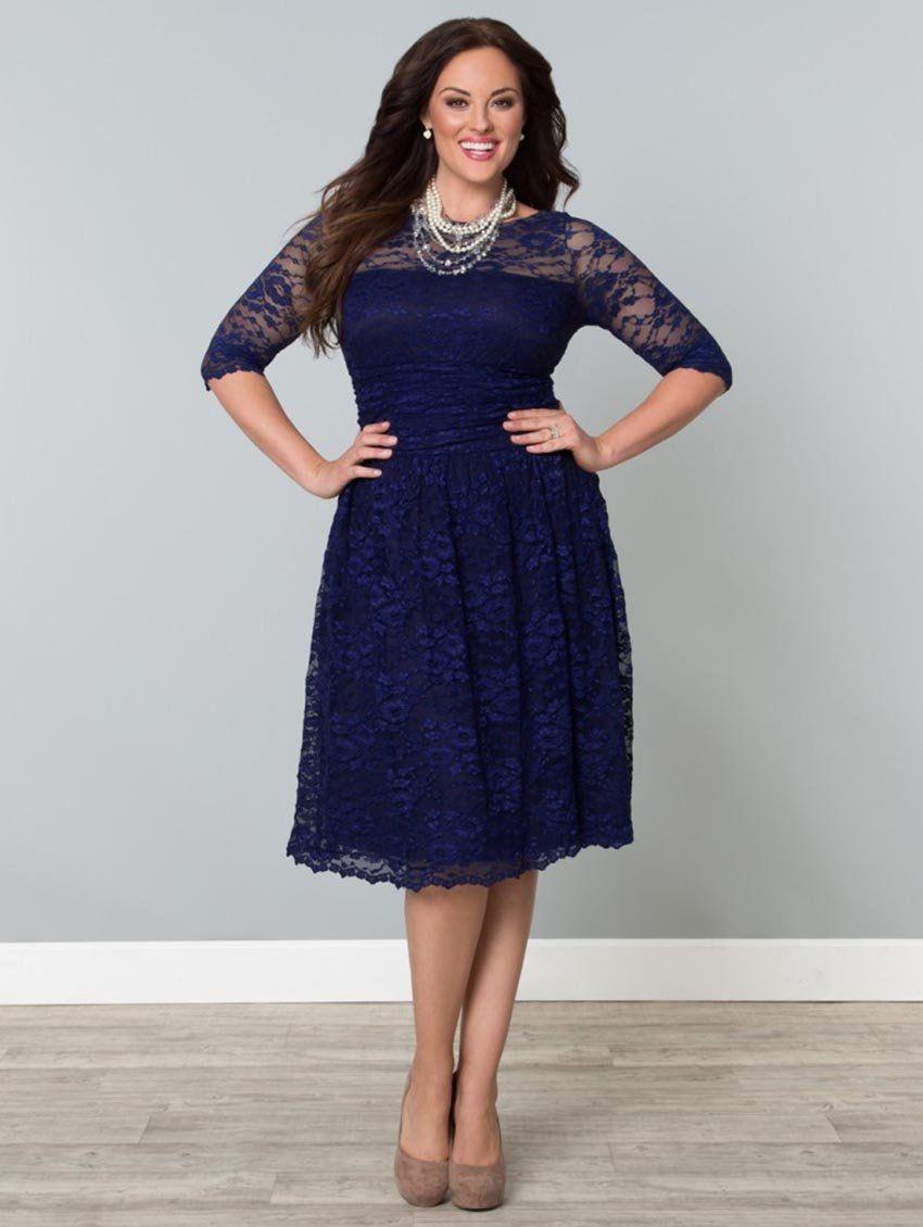 Scalloped Luna Dress $174.99 #Kiyonna, #LucyClothing, #plussize | My ...