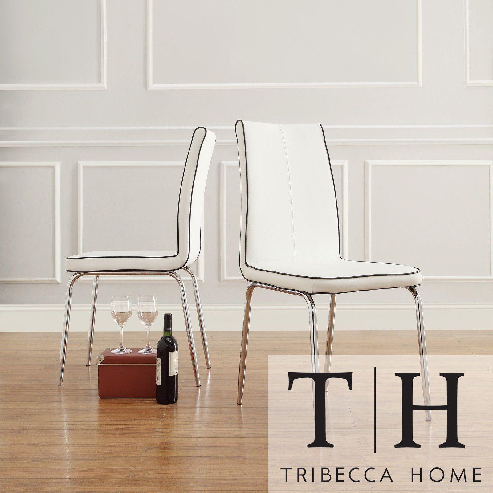 Metro Shop TRIBECCA HOME Matilda White Retro Modern Dining Chair ...