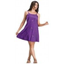 Purple Fuchsia Meriel Celtic Inspired Mini Dress Large