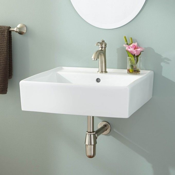 Chelsey Wall Mount Bathroom Sink Small Bathroom Sinks Wall