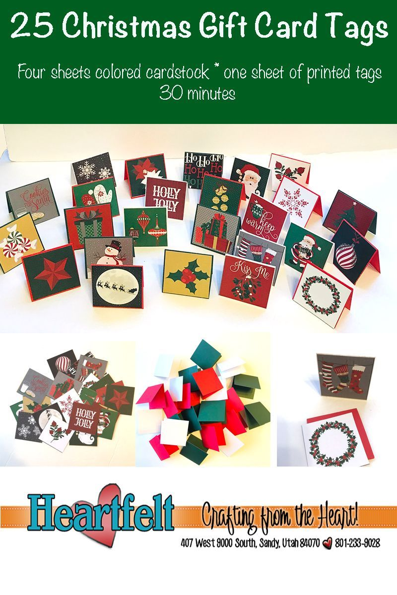25 Quick And Easy Card Tags For Christmas Handmadecards Heartfeltutah Cards Christmas Christmascards Christmas Gift Card Simple Cards Cards Handmade