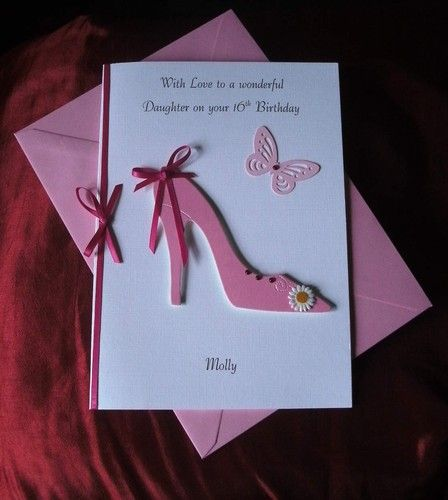 Personalised 16th18th21st 30th40th50th Birthday Card Daughter