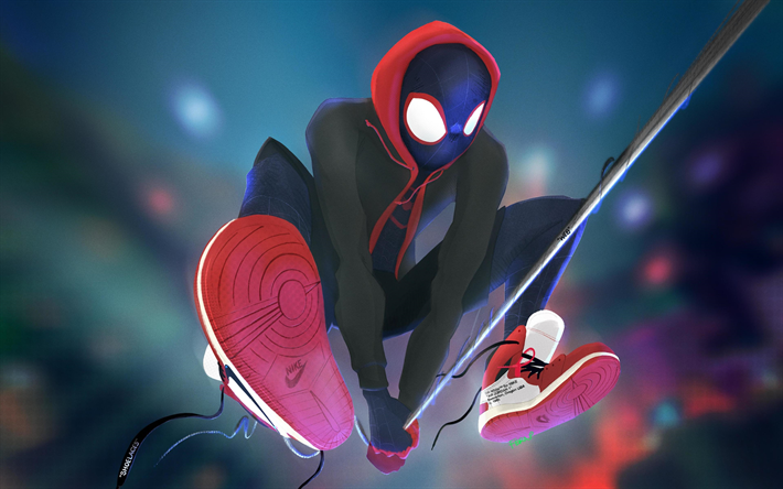 Download Wallpapers Spiderman 4k Superheroes Spider Man Into The Spider Verse 2018 Movie Besthqwallpapers Com Spiderman Best Superhero Movies Spider Verse