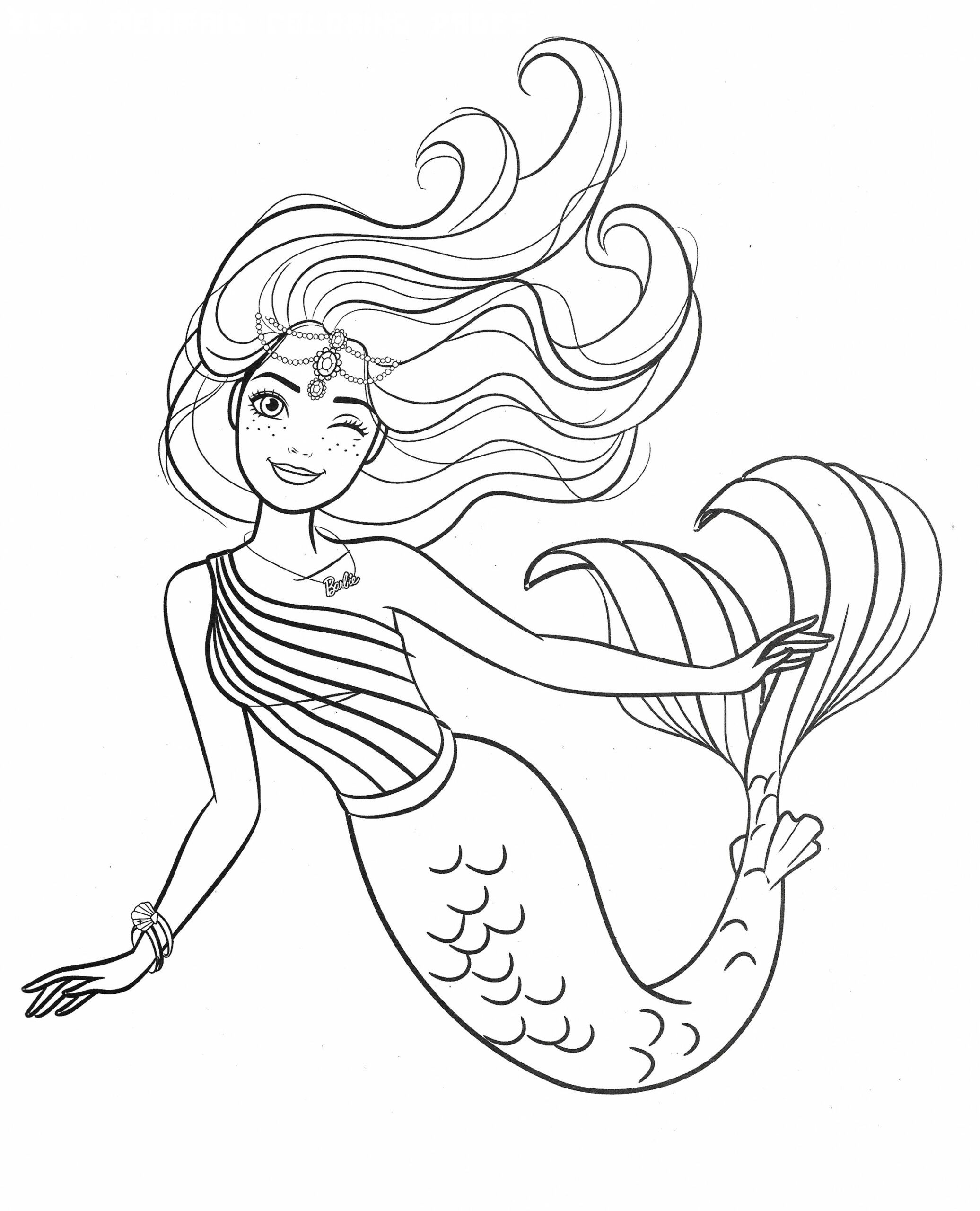 12 Elsa Mermaid Coloring Pages | Mermaid coloring book ...