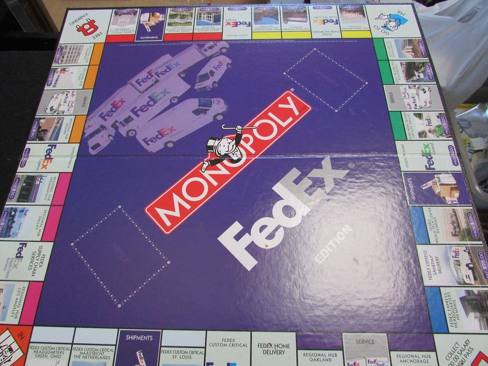 2004 Monopoly Fedex Edition Game Board This Is For The Game