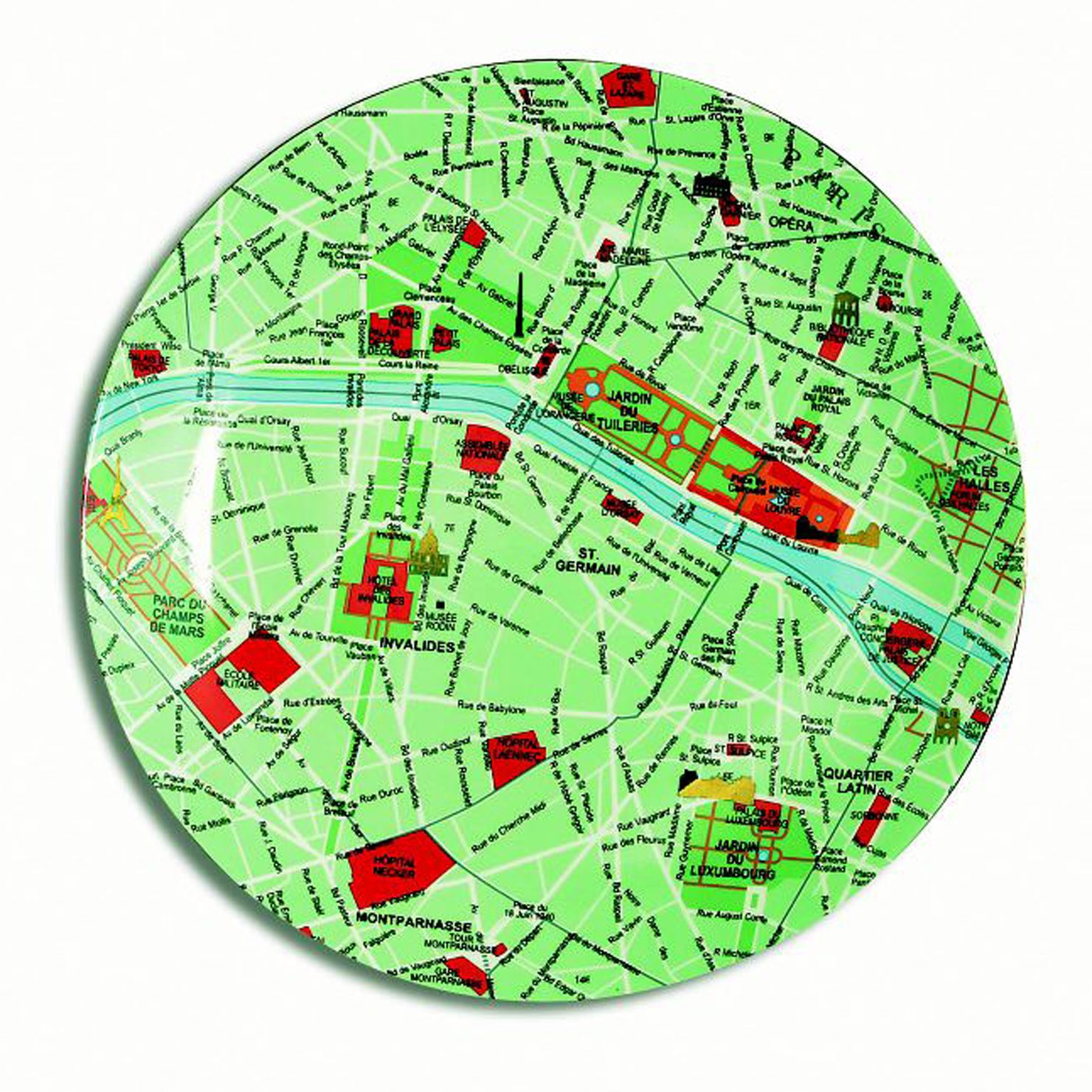 Achica seletti map plate paris globe map things pinterest achica seletti map plate paris gumiabroncs Images